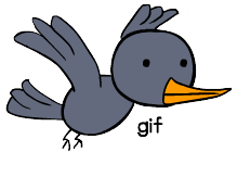 Flying bird (gif) by creepyboy