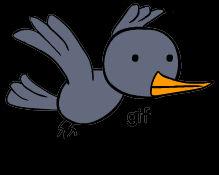 Flying bird (gif)
