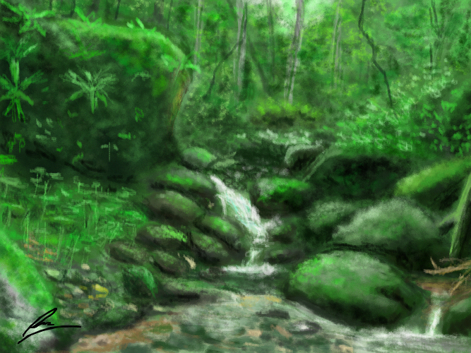 Forest Creek Landscape Practice By Borockman On Deviantart