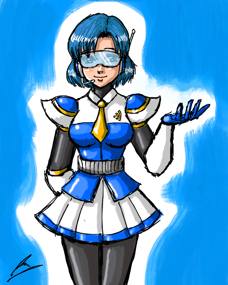 Reploid Sailor Mercury by borockman