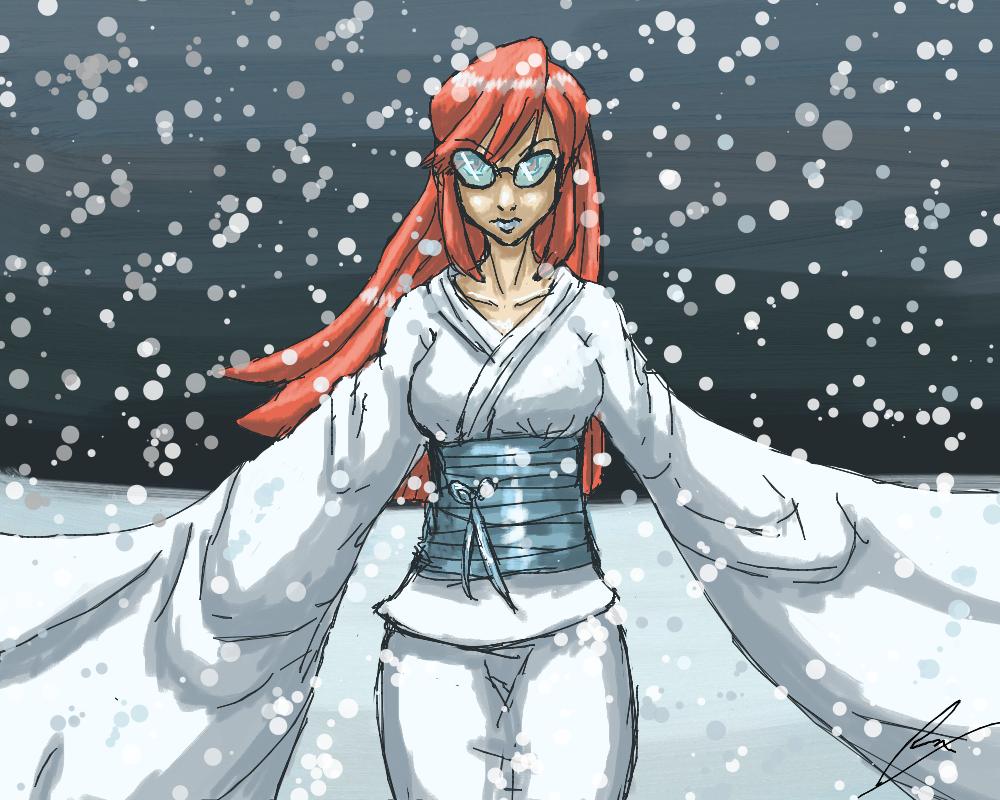 Lorelei as Yuki-Onna by borockman
