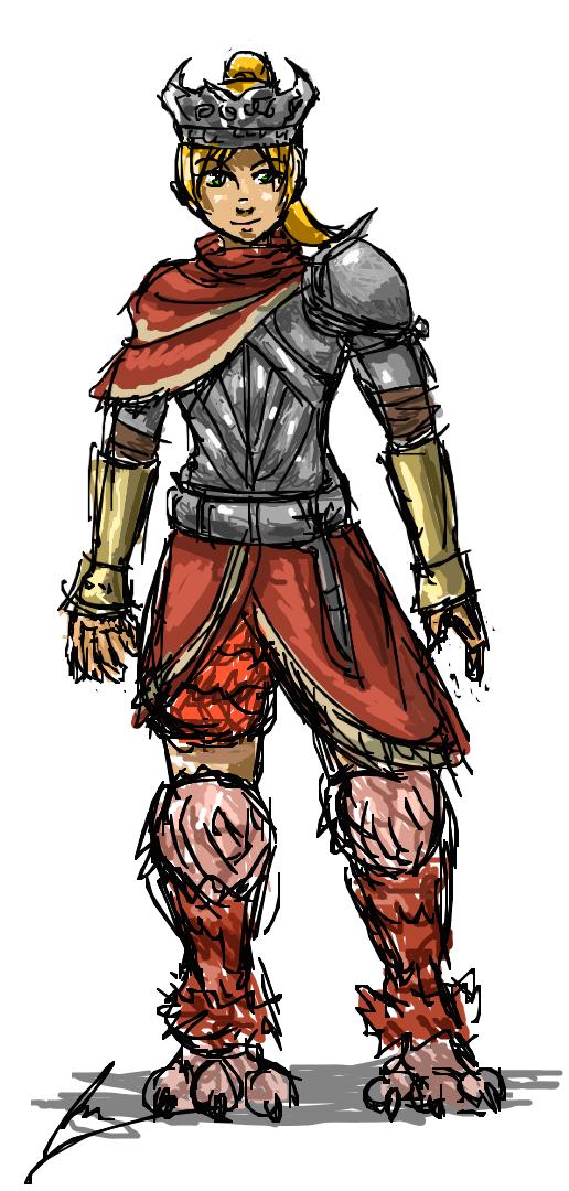 My Dark Souls 2 character by borockman