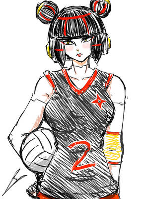 Volleyball player Yumei