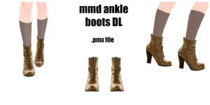 [MMD DL] Ankle Boots by Destiny7865