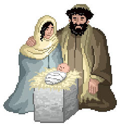 Pixel Nativity by gavacho13