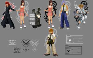 Kingdom Hearts Rainmeter Skin by tashstrife89