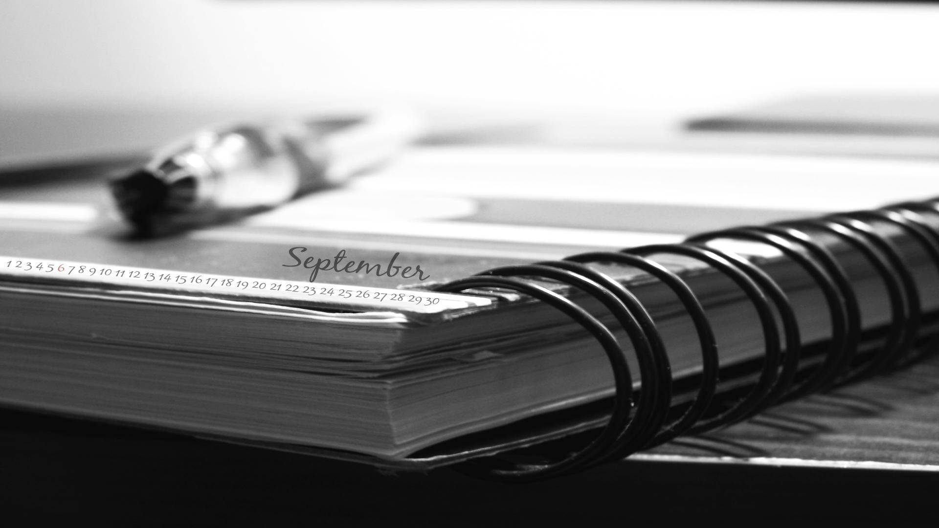 September calender_ Note book