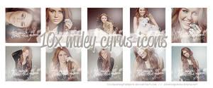 10x Miley Cyrus Icons