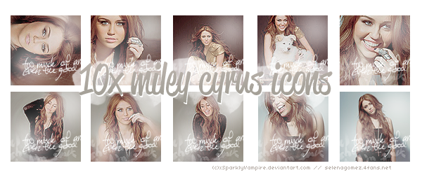 10x Miley Cyrus Icons by xSparklyVampire