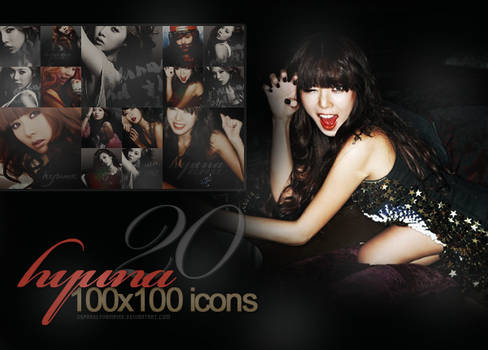 20x HyunA Random - Icon Set '01