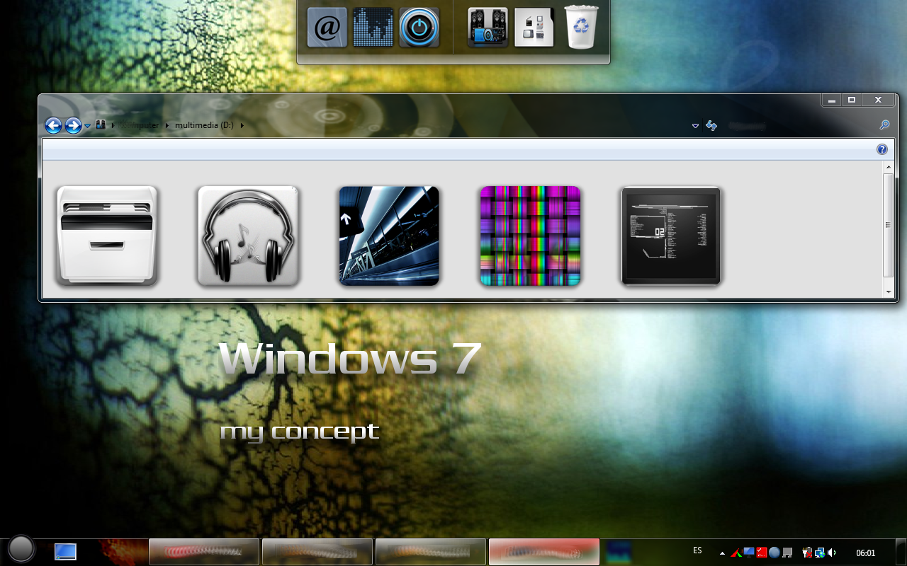 my windows 7 in vista by phantommenace2020