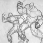 Fight - Pencil Test by CARUTOONS