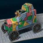 Papercraft Non scale Armored Ford T by vladcorail