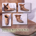 Medieval Boot Shoe stock