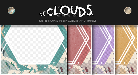 Pastel Frames In Different Colors and Things by Kadrians