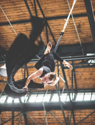 Aerial silk at Triple Hall Karolina - Ostrava by Zavorka