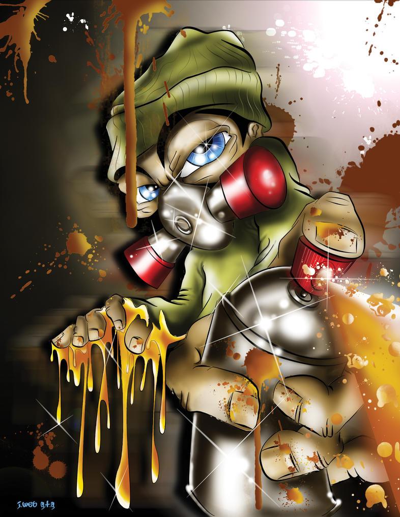 Graffiti is an addiction-digi by jweb3d