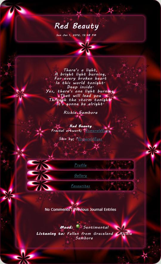 Red Beauty Journal Skin by EsmeraldEyes