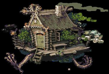 Hut, animated