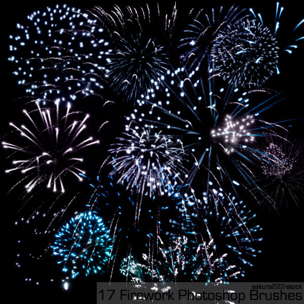Firework Brushes by Sakura222-stock