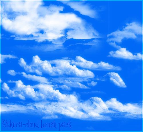 Cloud Brush Set by Sakura222-stock