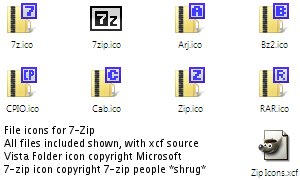 Icon Pack: 7-zip by gnu32