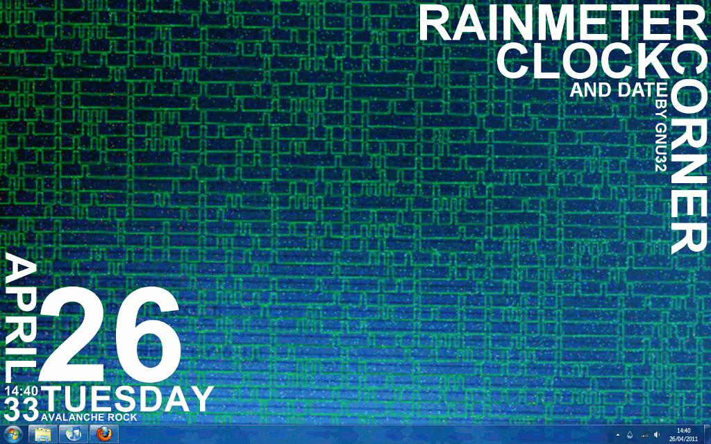 CornerClock 1.5 for Rainmeter by gnu32