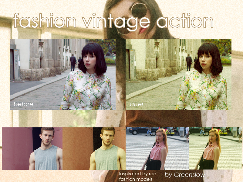 Fashion vintage action