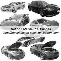 Mazda Photoshop Brushes by ModifiedCars-stock