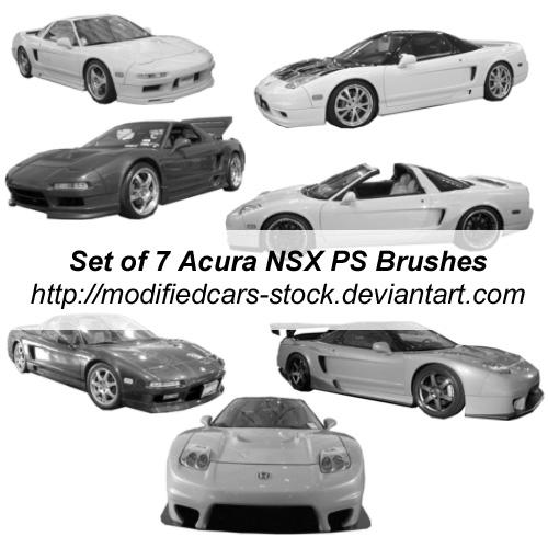 Acura NSX Photoshop Brushes By ModifiedCars-stock On