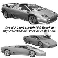 Lambourghini Photoshop Brushes by ModifiedCars-stock