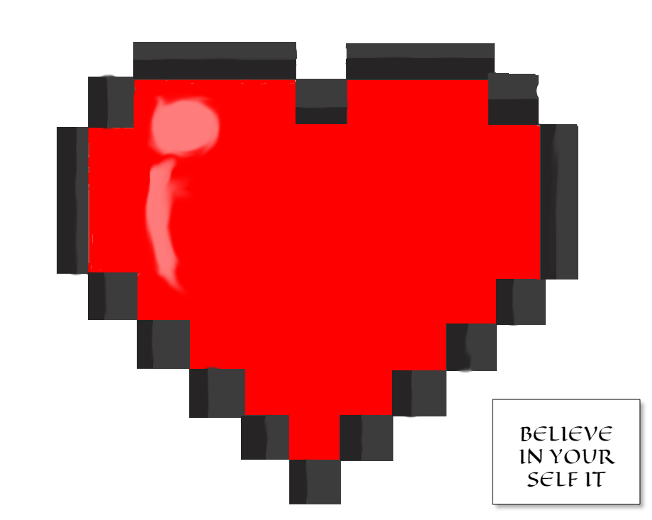 8bit heart by raymybestfriend on deviantart