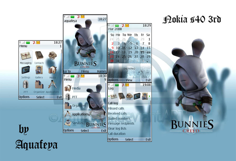 Bunnies creed Nokia s40 Theme by Aquafeya