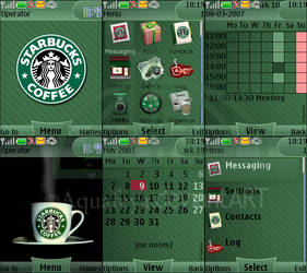 Starbucks Nokia s40 theme by Aquafeya