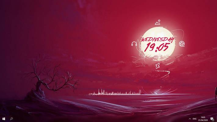White MoonLight Red Sky 1.0