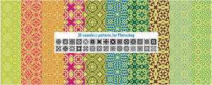 30 seamless patterns for Photoshop pack 1