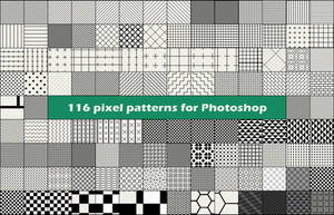 116 pixel patterns for Photoshop by CIRQUAN