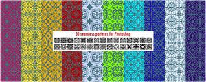 30 seamless patterns for Photoshop pack 2