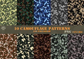 10 Camouflage Patterns by CIRQUAN
