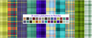 30 Seamless Plaid Patterns