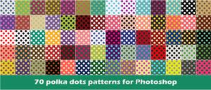 70 polka dot patterns for Photoshop