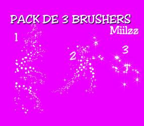 PACK DE 3 BRUSHERS