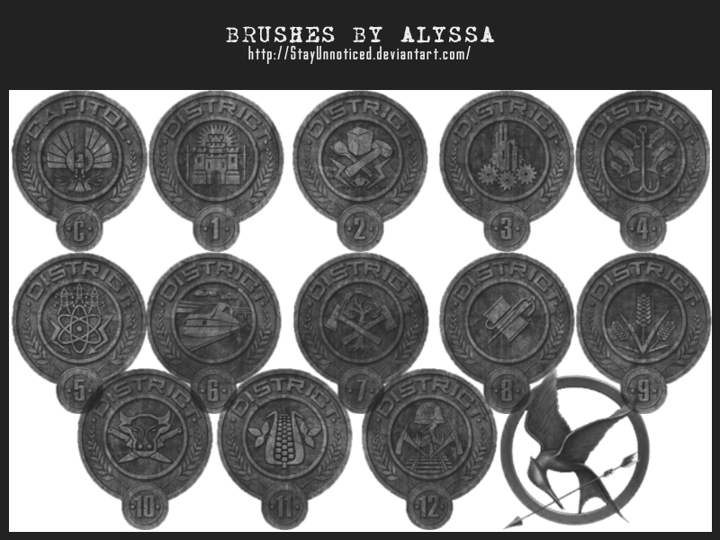 Hunger Games Brushes 3 District Seals By Stayunnoticed On Deviantart