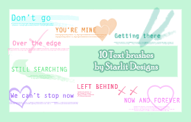 Text Brushes Set 6 by mystique87