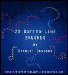 20 dotted line brushes