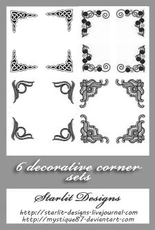 Deco Corners - Set 2 by mystique87