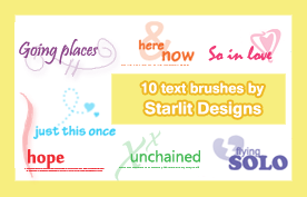 Text Brushes Set 8 by mystique87