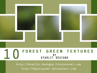 10 Forest Green Textures by mystique87