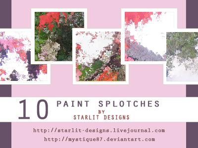 10 Paint Splotch Textures by mystique87
