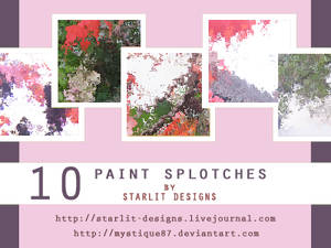 10 Paint Splotch Textures